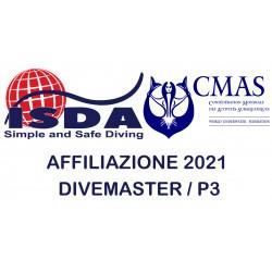 Affiliazione 2021 DIVEMASTER ISDA / P3 CMAS
